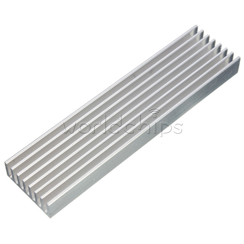 Aluminum Heat Sink Cooling LED Power IC Transistor 100x25x10mm For Computer