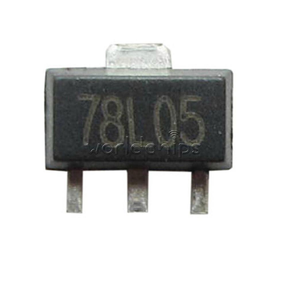 20//50//100Pcs SMD L78L05 78L05 7805 Voltage Regulator 5V 100mA SOT-89