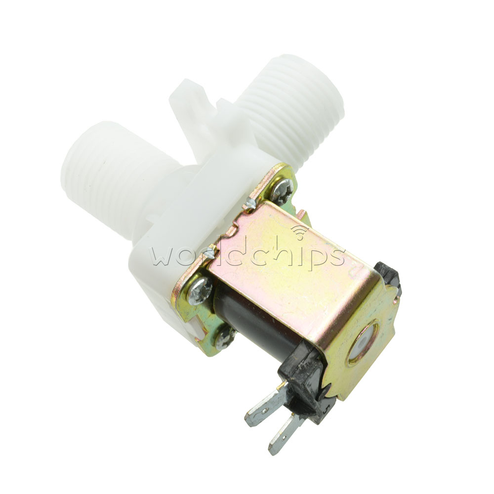 HEIYAO Electric Solenoid Valve Magnetic N//C Water Air Inlet Flow Switch 1//2 DC 24V