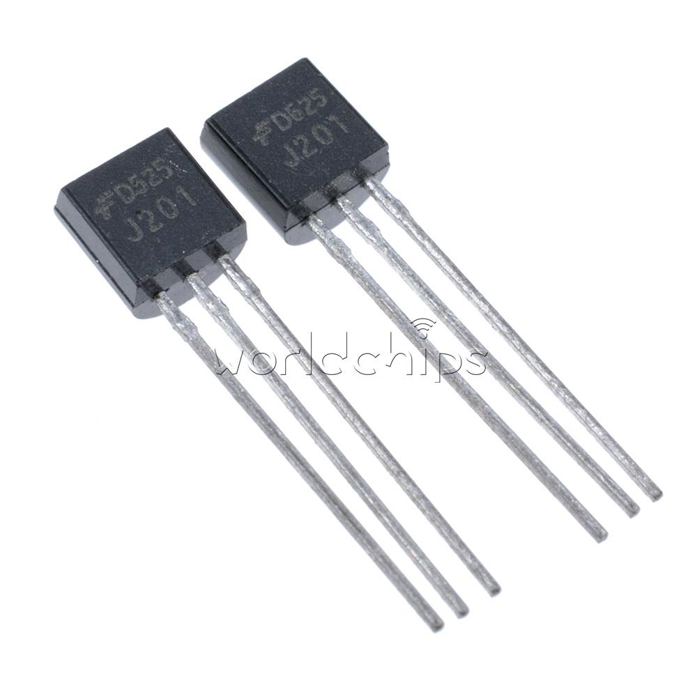 10PCS J201 JFET N-Channel Transistor 50mA 40V TO-92 NEW