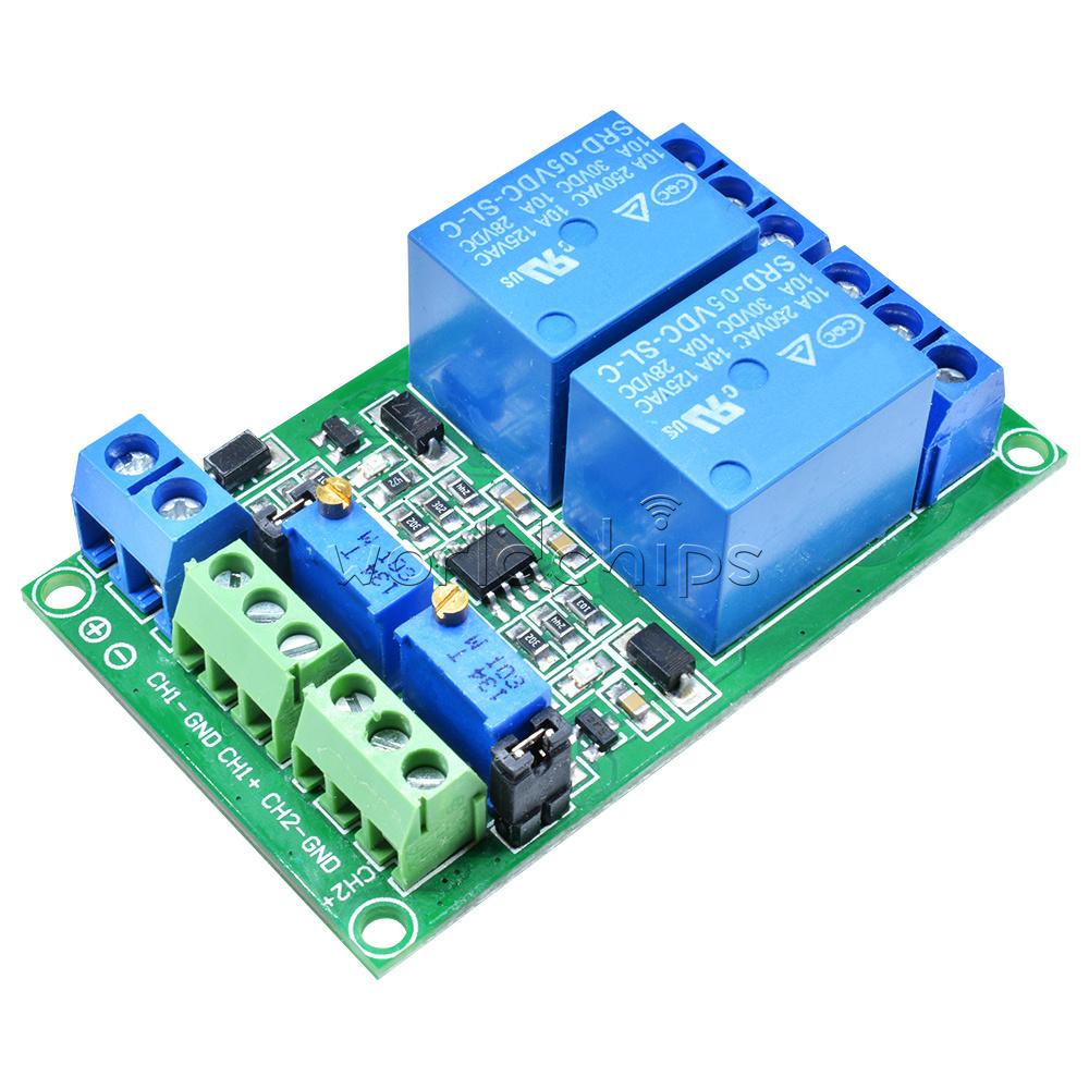 Unique 2 Channel DC 5V Voltage Comparator Precise LM393 Module
