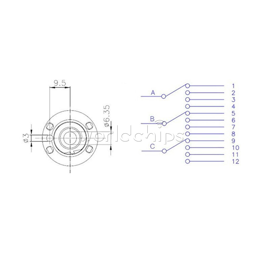 Details about 10PCS 3P4T 26MM 3 Pole 4 Position Single Wafer Band Selector on mobile rotary switch, 4 position selector switch, 4 pole switch diagram, 4 position rotary limit switch, 2 pole light switch, two pole three-way rotary switch, 4 position rotary key switch, 6 pos rotary cam switch, four pole switch, leviton rotary switch, 4 pole slide switch,