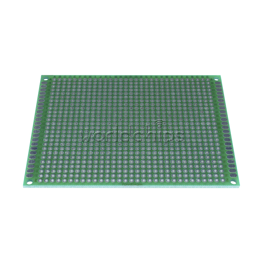 Diy Prototype Paper Pcb Universal Experiment Matrix Circuit Board 7x9cm Double Side Protoboard Tinned Grid About 01inch 254mm Thickness About16mm Hole Diameter Approx10mm Dimensionapprox7x9cmwl