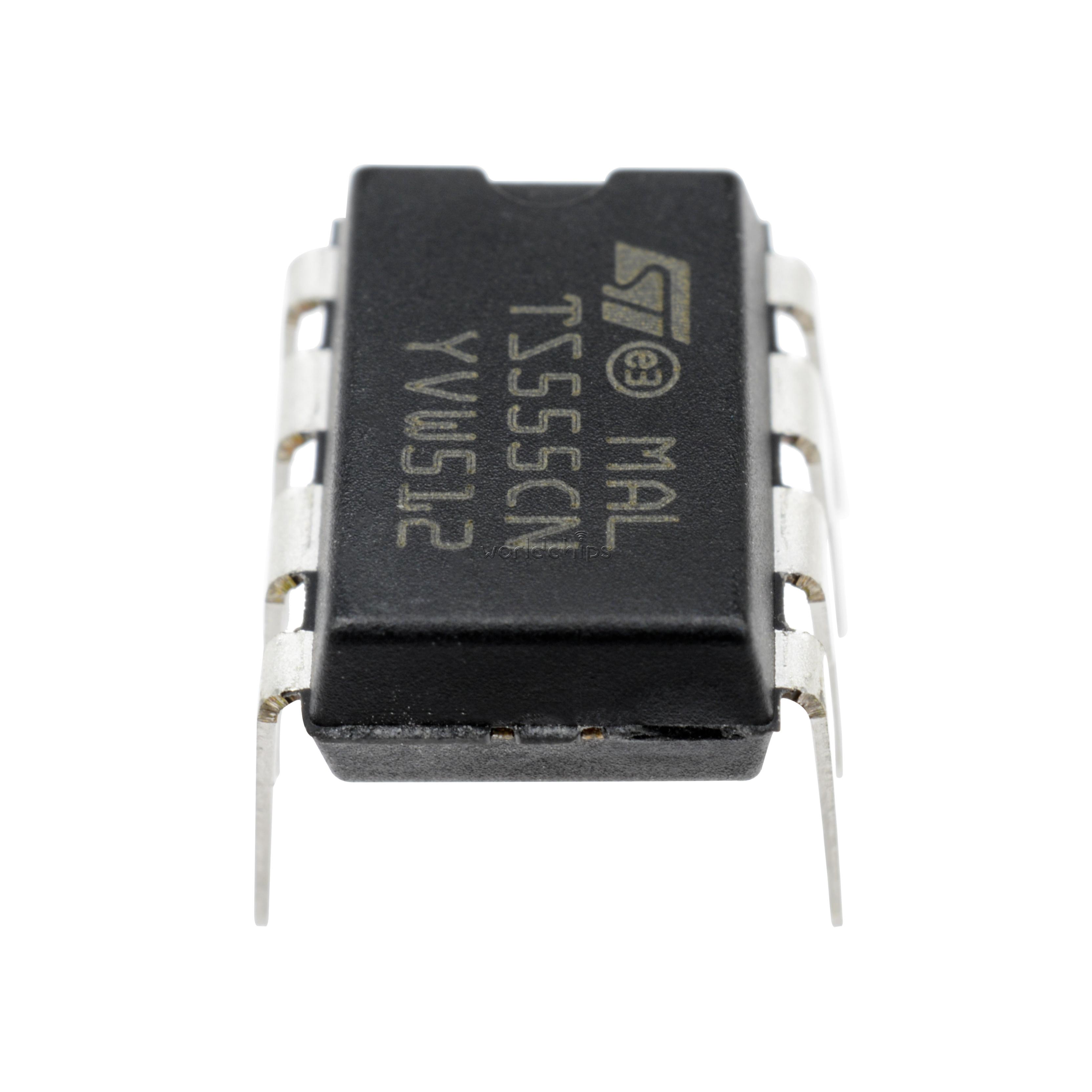10PCS TS555CN TS555 Encapsulation:DIP-8 St Timer Low Power Cmos NEW