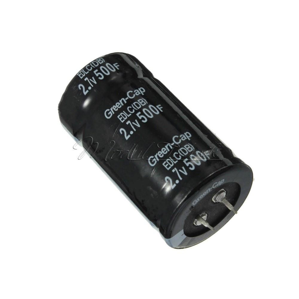 2.7V 500F Farad Electrolytic Super Capacitor Capacitance 16V83F Two Feet 35*60mm