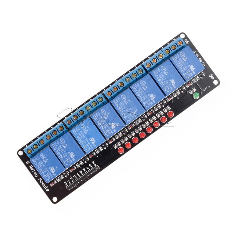 5V 1//2//4//8 Kanal Relais Board Modul Optokoppler LED für  PiC ARM AVR TI