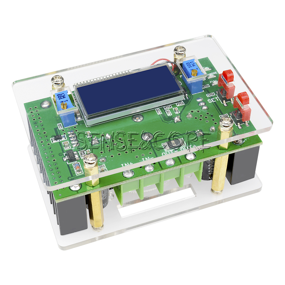DC-DC Step Down Power Supply Adjustable Modul With LCD Anzeige With Case