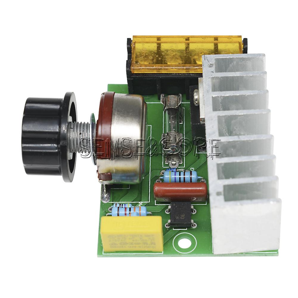 AC 220V SCR Spannungsregler Drehzahlregler Dimmer-Thermostat Sicherheit 2000W