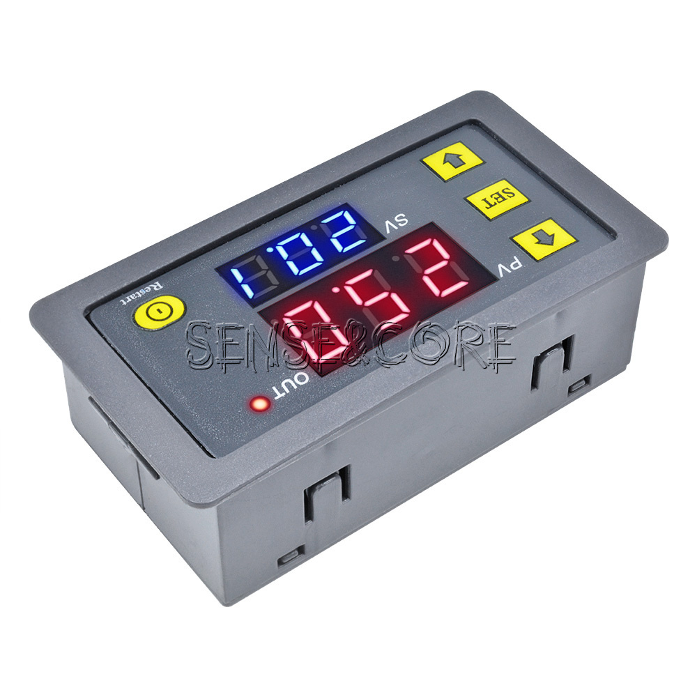 12V Cycle Timer Delay 0-999 hours//minutes//seconds Dual Display Relay Module New
