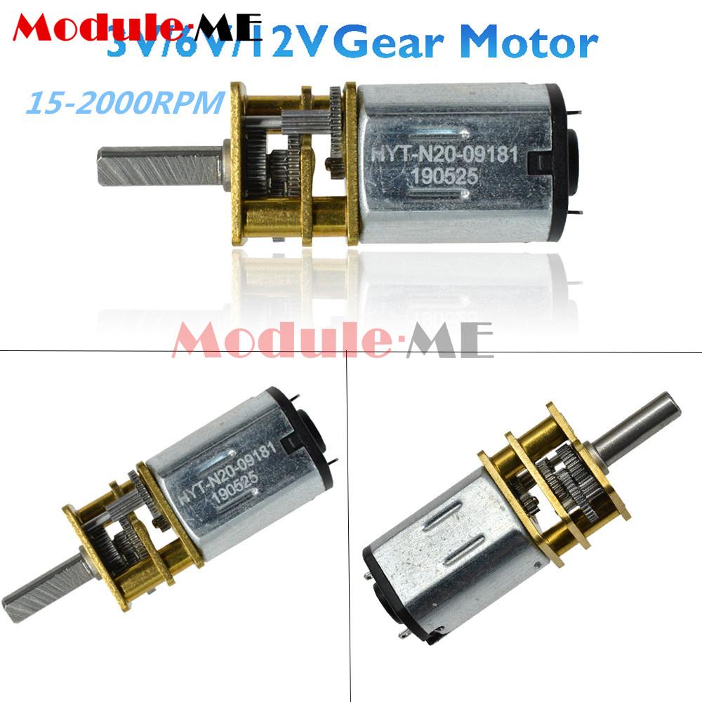 3V//6V//12V DC Micro Gear Motor Metal Gearbox 15-2000RPM GA12-N20 Gearmotor