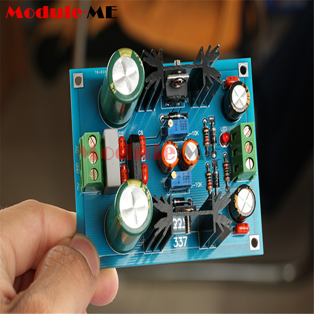 Lm317 Lm337 Adjustable Filtering Power Supply Module Voltage Regulator