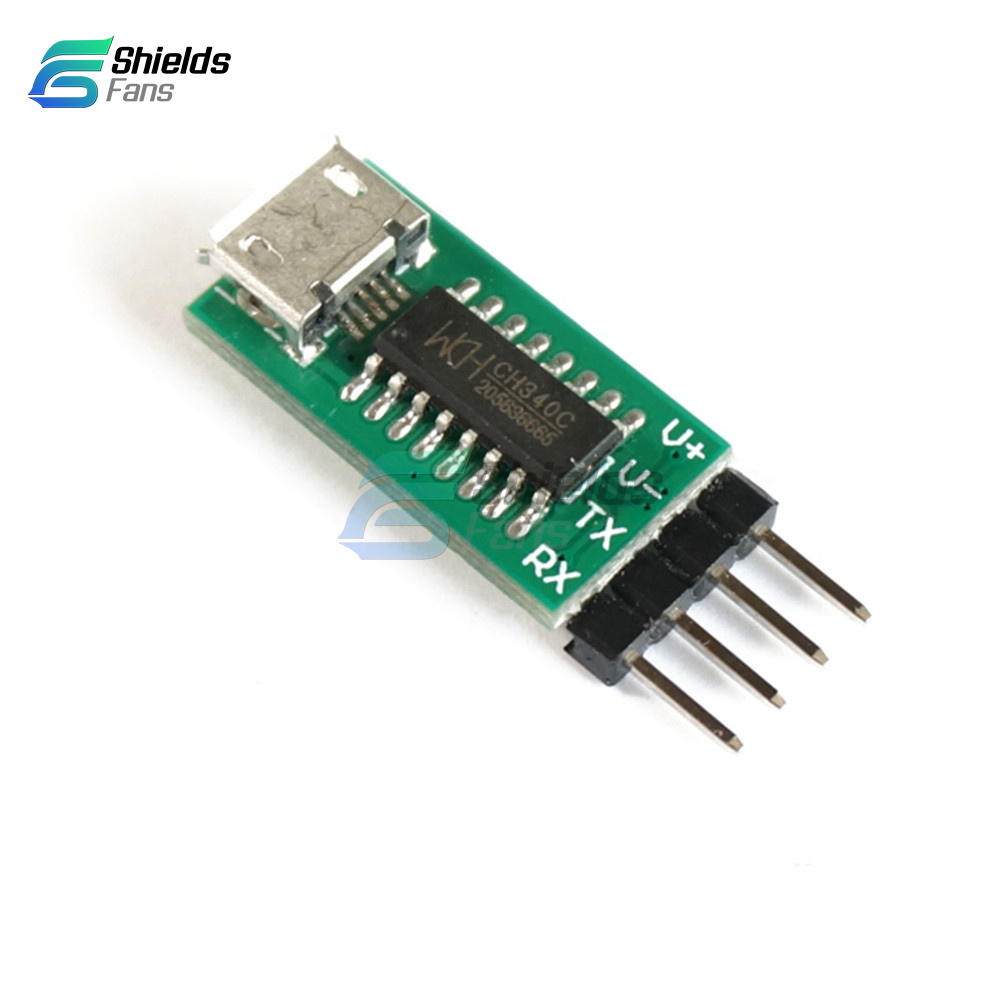 CH340C//CH340T Micro USB to TTL Serial Port ISP Download For STM32 Replace CP2102
