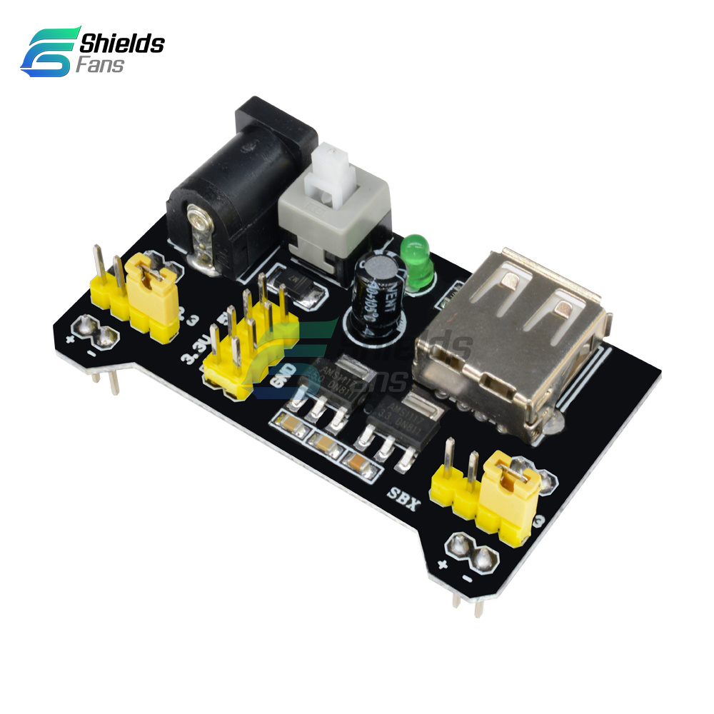 33v 5v Mb102 Power Supply Board Pcb Breadboard 830 Tie Point For Antietching Circuit Ink Marker Pen Diy Arduino Details