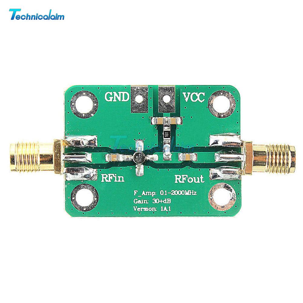 0.1-2000MHz 30dB Low Noise Broadband RF Receiver Amplifier LNA Signal VHF FM