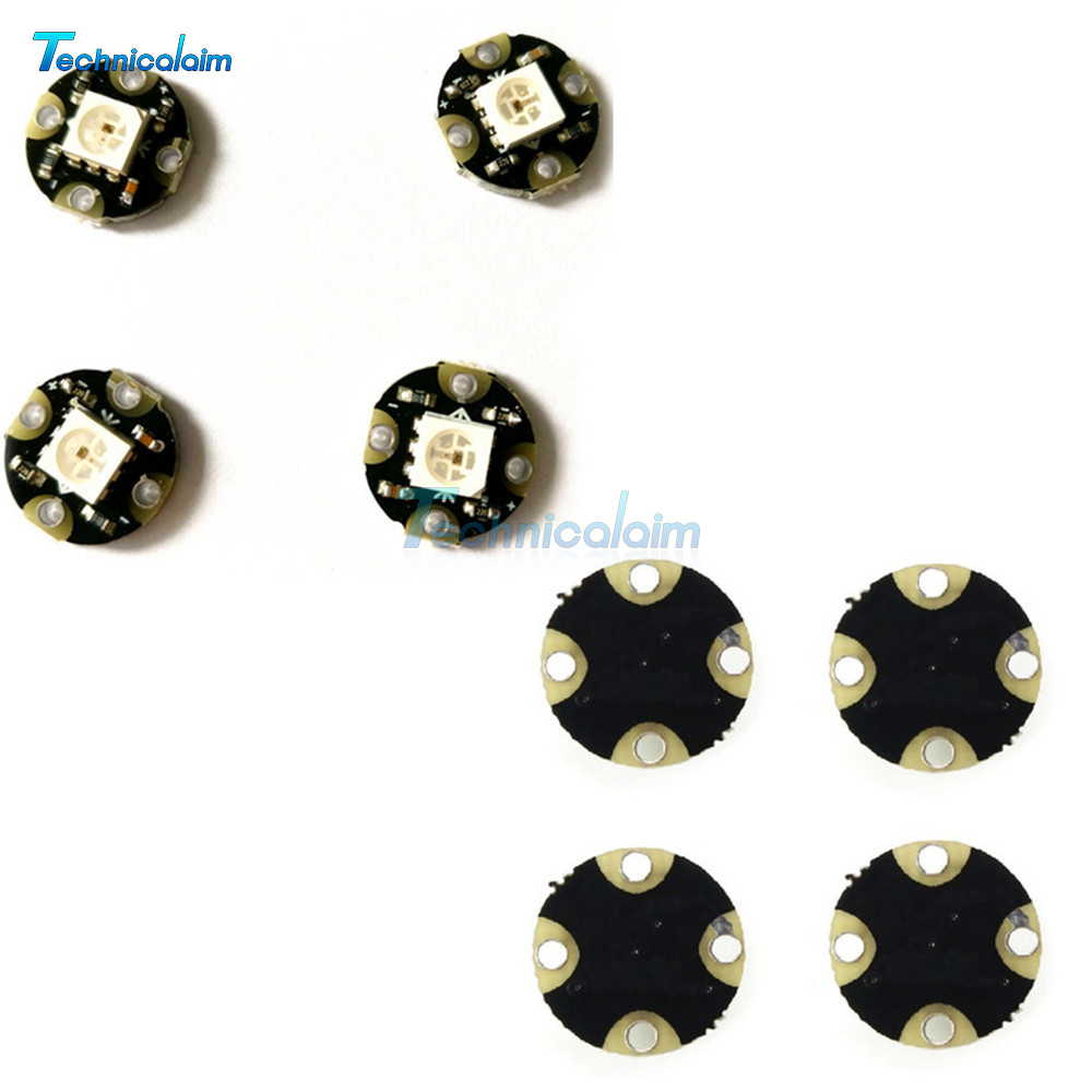 4PCS WS2812 Smart RGB LED Integrated Driver Sewable Wearable Chainable Flora