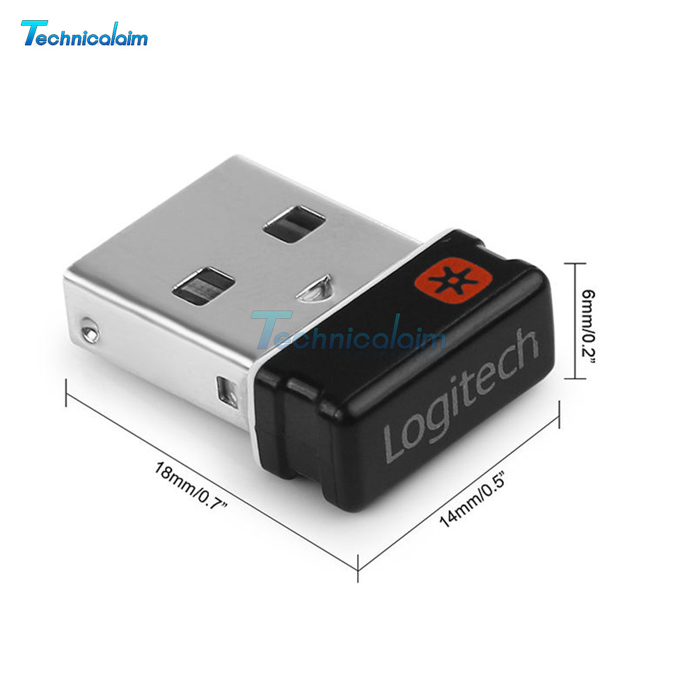 cefebae79e7 Unifying Receiver 1 to 6 Devices For Logitech USB Wireless Keyboard Mouse  Dongle