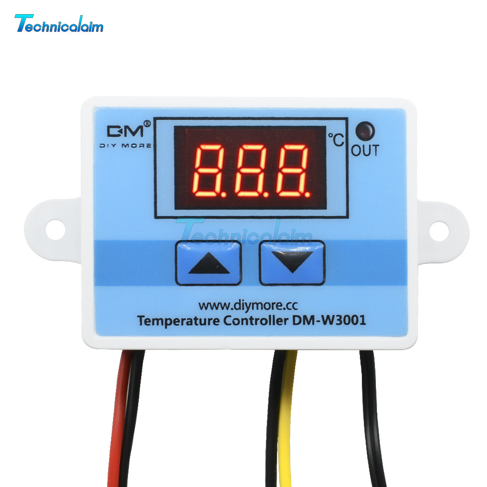 24V Digital LED Temperature Controller 10A Thermostat Control Switch Probe NEW