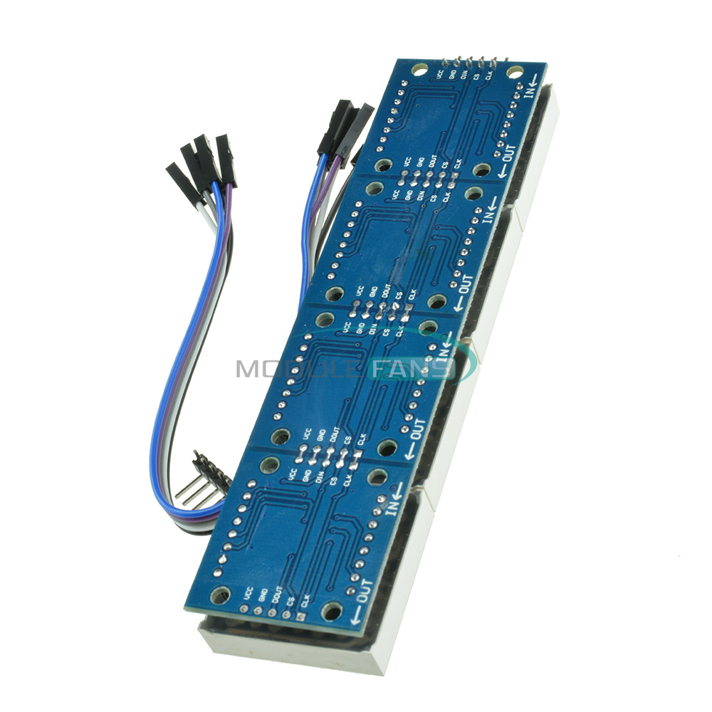 MAX7219 MICROCONTROLLER 4 IN 1 DISPLAY 5P LINE MODULE FOR ARDUINO DOT MATRIX SMA