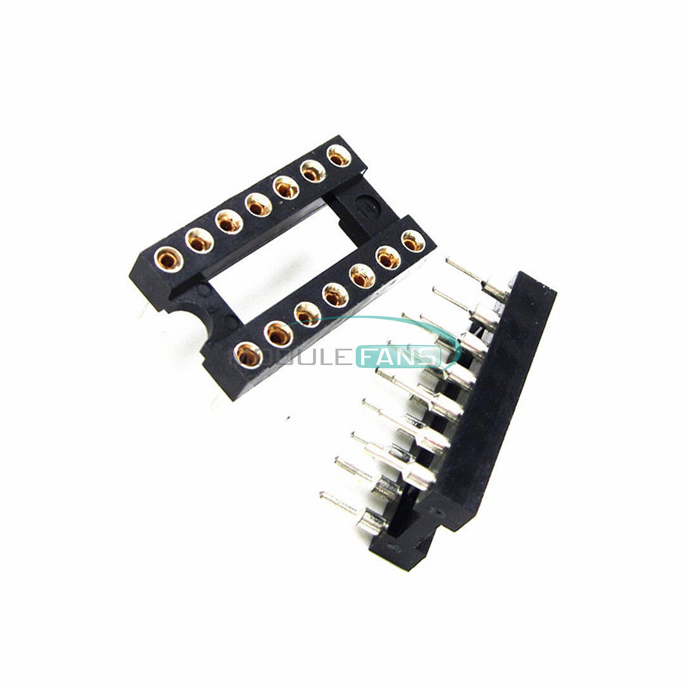 10PCS 8Pin DIP SIP Round IC Sockets Adaptor Solder Type plated machined M