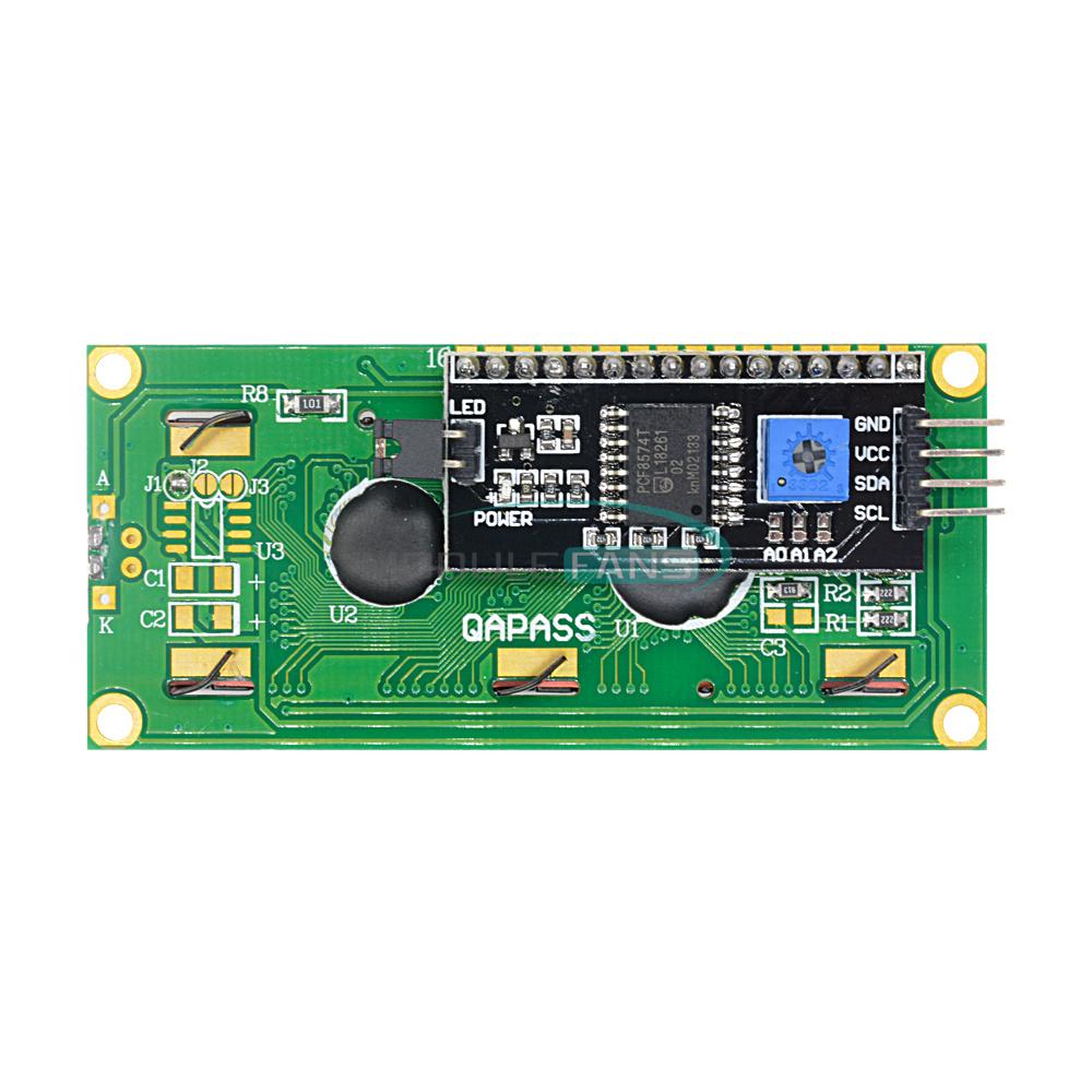 1-2-5-10PCS-1602-16X2-LCD-Module-IIC-I2C-TWI-SP-I-Serial-Interface-Blue-Display thumbnail 13