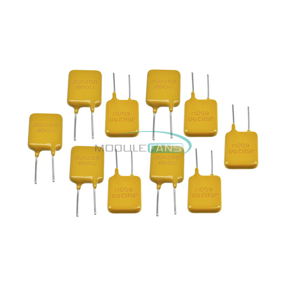 100pcs 0.65A 250V 650mA PolySwitch Resettable Fuse Poly Switch Fuses Polyfuse
