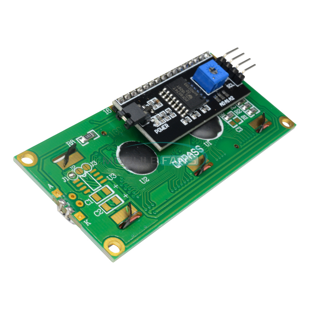1-2-5-10PCS-1602-16X2-LCD-Module-IIC-I2C-TWI-SP-I-Serial-Interface-Blue-Display thumbnail 15
