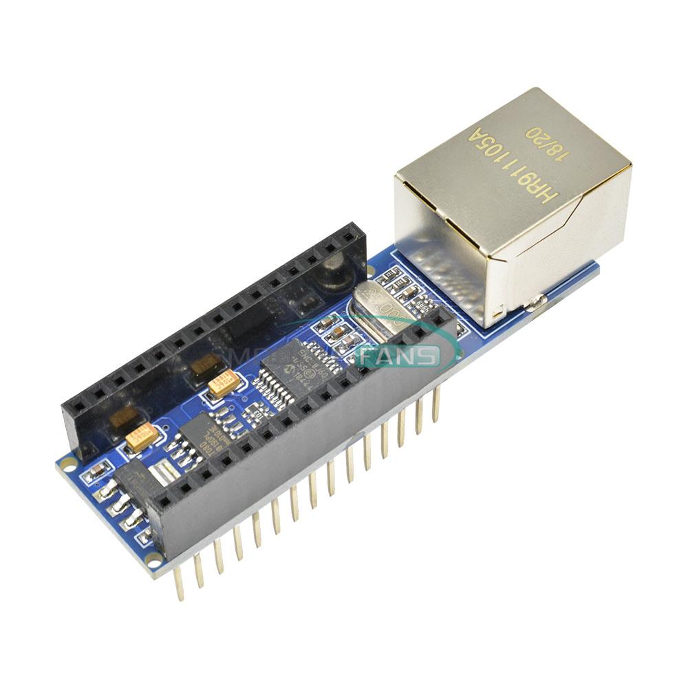 5PCS Mini ENC28J60 Webserver Module Ethernet Shield Board for Arduino Nano v3.0
