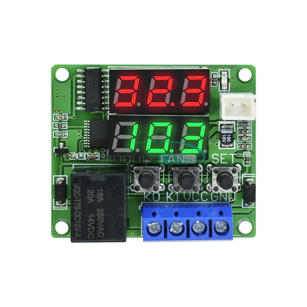 DC 12V Dual Programmable Relay Cycle Delay Timer Timing Clock Switch Module new