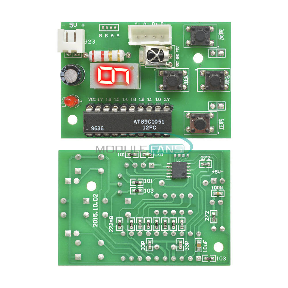 Stepper Motor Driver Controller Board Speed Adjustable with Remote Control RC
