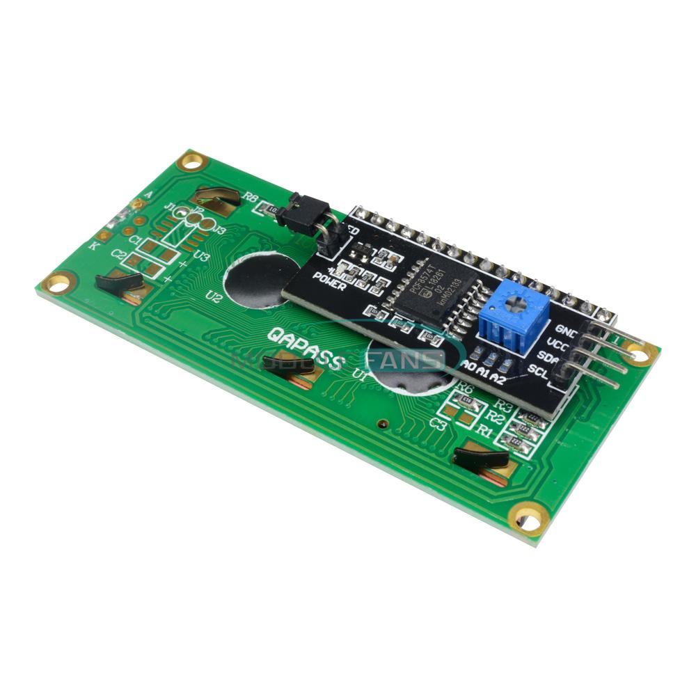 1-2-5-10PCS-1602-16X2-LCD-Module-IIC-I2C-TWI-SP-I-Serial-Interface-Blue-Display thumbnail 8