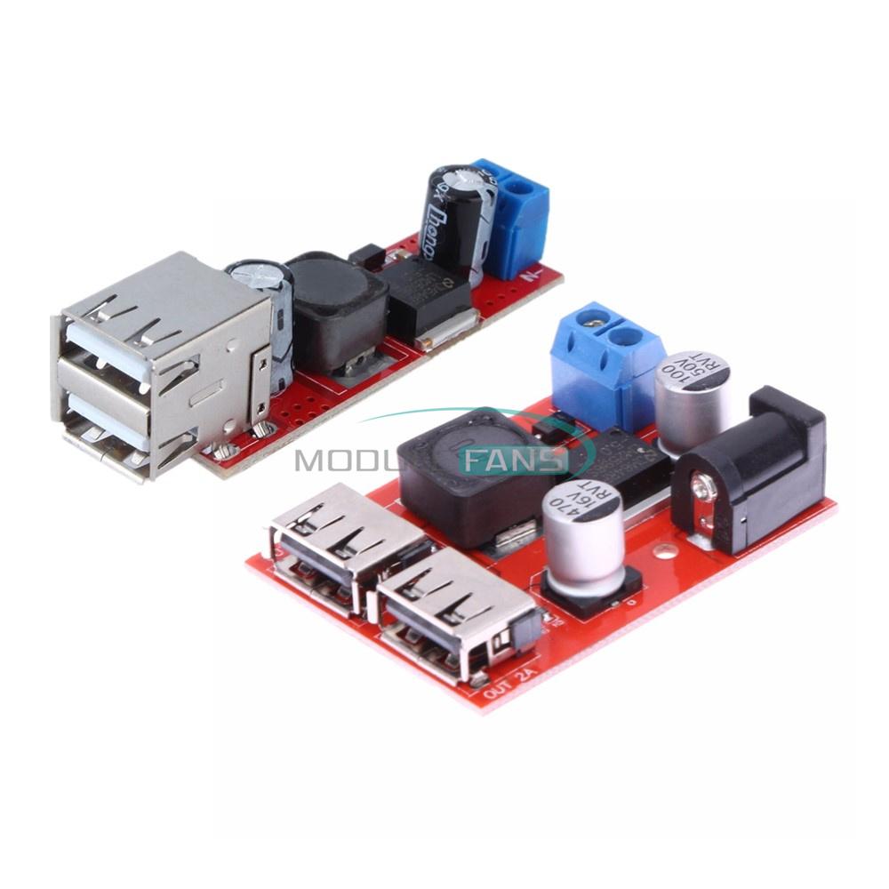 1//2//5//10PCS 9V 12V 24V to 5V 3A CAR USB Charger Module Buck Step Down Converter