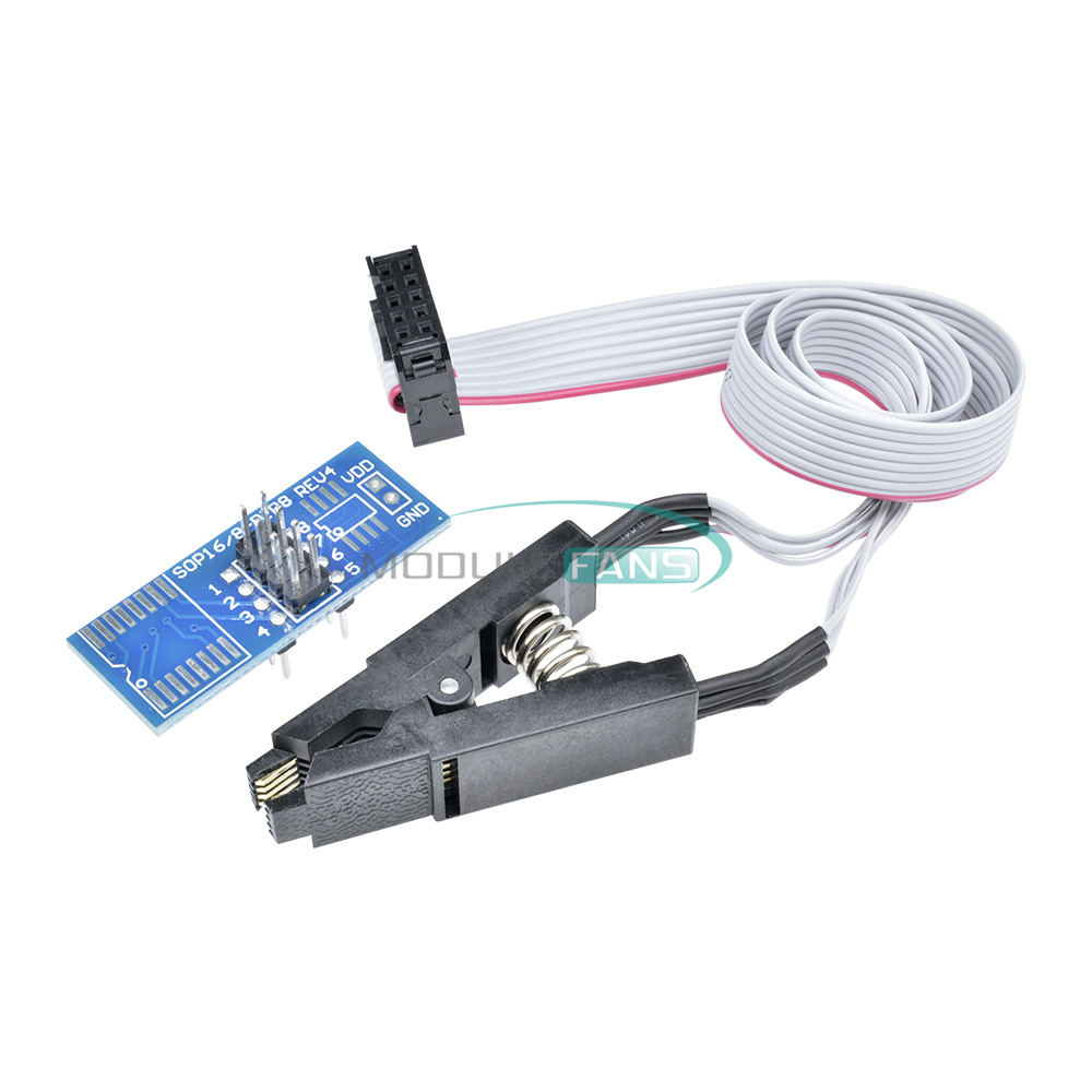 SOIC8 SOP8 Chip IC Test Clip Adapter Board Kabel Cable Programmer BIOS EEPRO