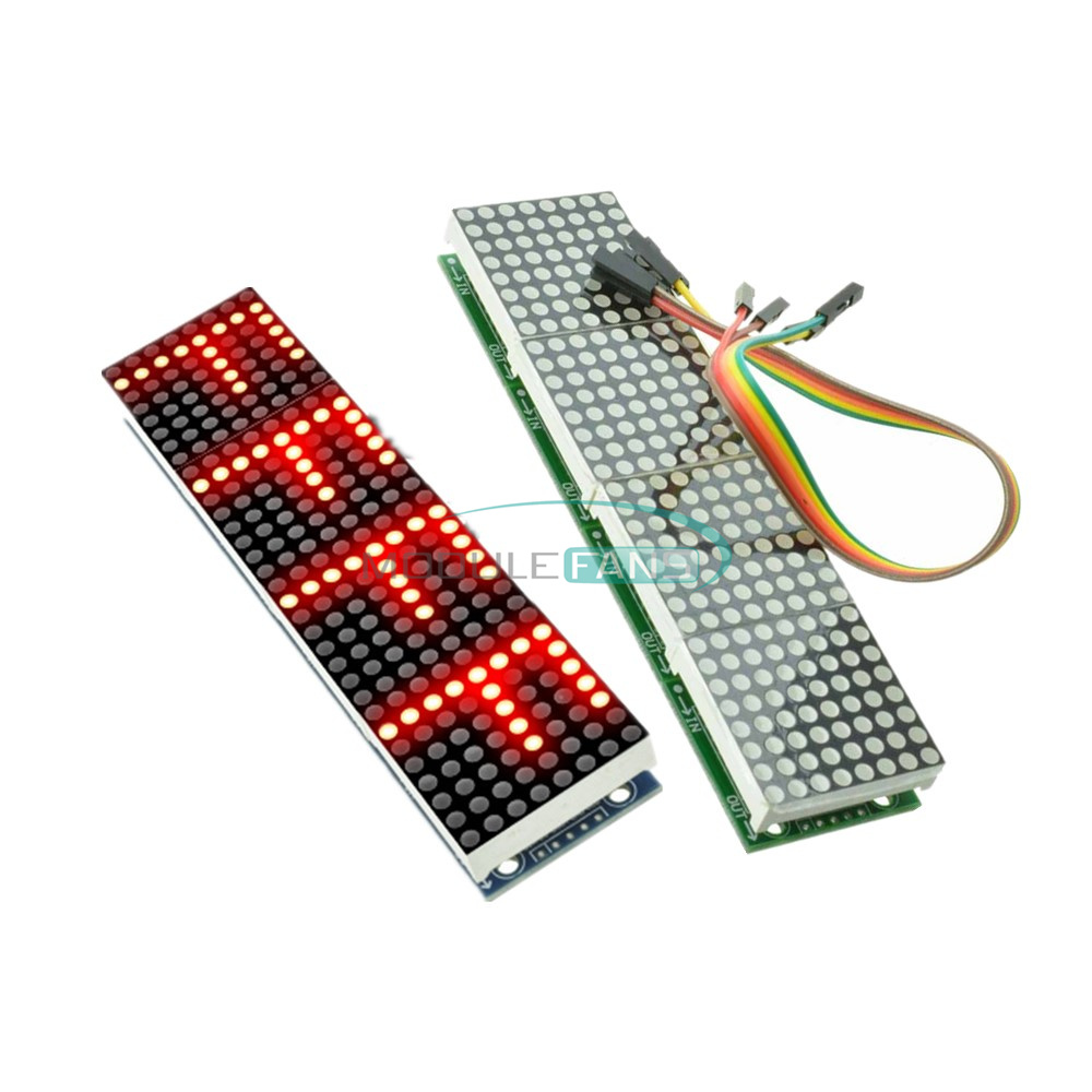 MAX7219 Microcontroller 4in 1 Display With 5P Line Module for Arduino Dot Matrix