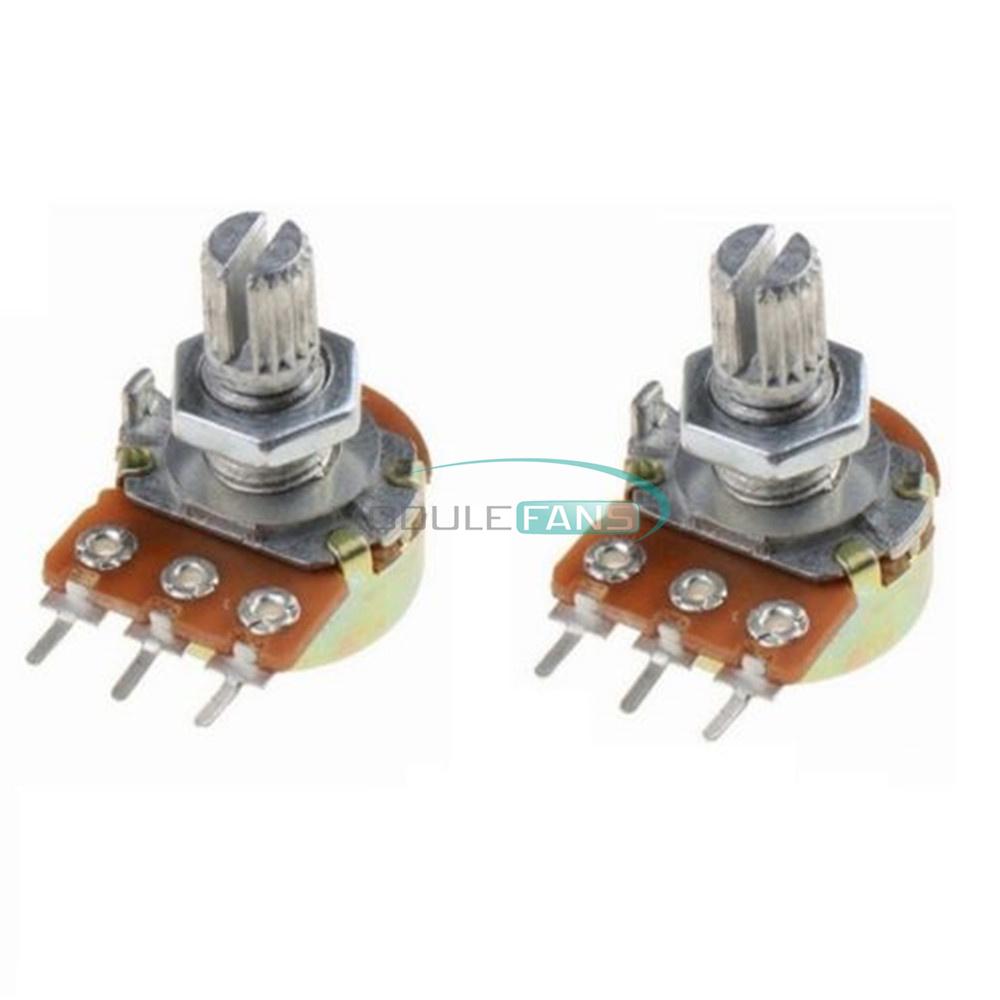 10Pcs WH148 Type B1K Ohm Linear Taper Rotary Potentiometer Panel Pot 3Pin