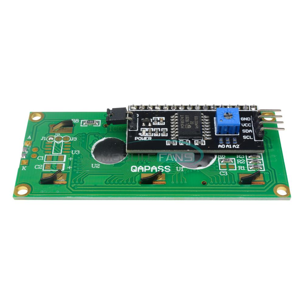 1-2-5-10PCS-1602-16X2-LCD-Module-IIC-I2C-TWI-SP-I-Serial-Interface-Blue-Display thumbnail 10
