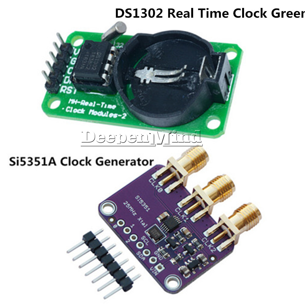 DS3231 Time Clock+Si5351A I2C 25MHZ Clock Generator 8KHz to 160MHz for Arduino