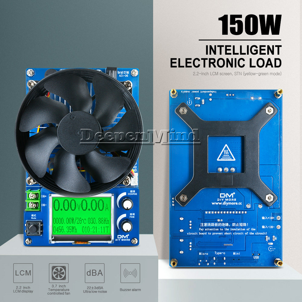 150V 10A 150W Intelligent Electronic Load Host Battery Discharge Capacity Tester