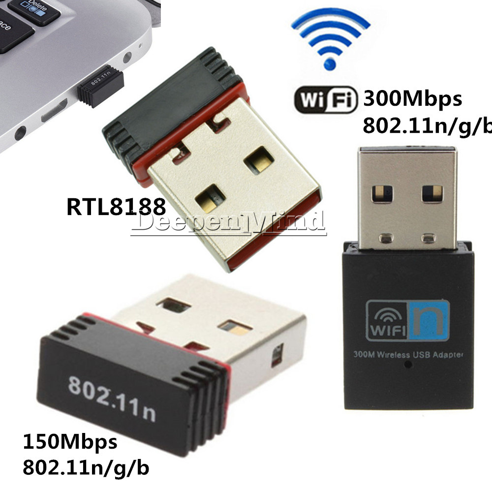USB 150//300Mbps WiFi Wireless RTL8188 Adapter Dongle Network LAN 802.11n//g//b