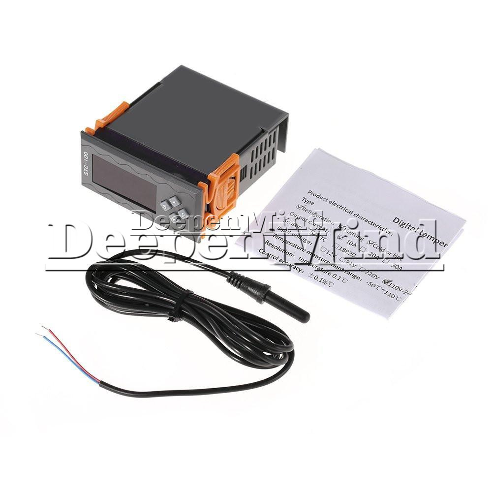 W1209 12 24 220v Stc 100 1000 Digital Temperature Controller How To Wire