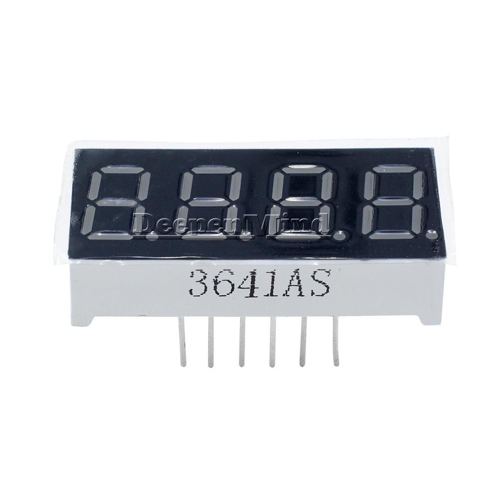 "1pc~100pcs 0.36/"" 0.36 inch 7 Segment Display Red Blue LED 4 Digit Common Cathode"