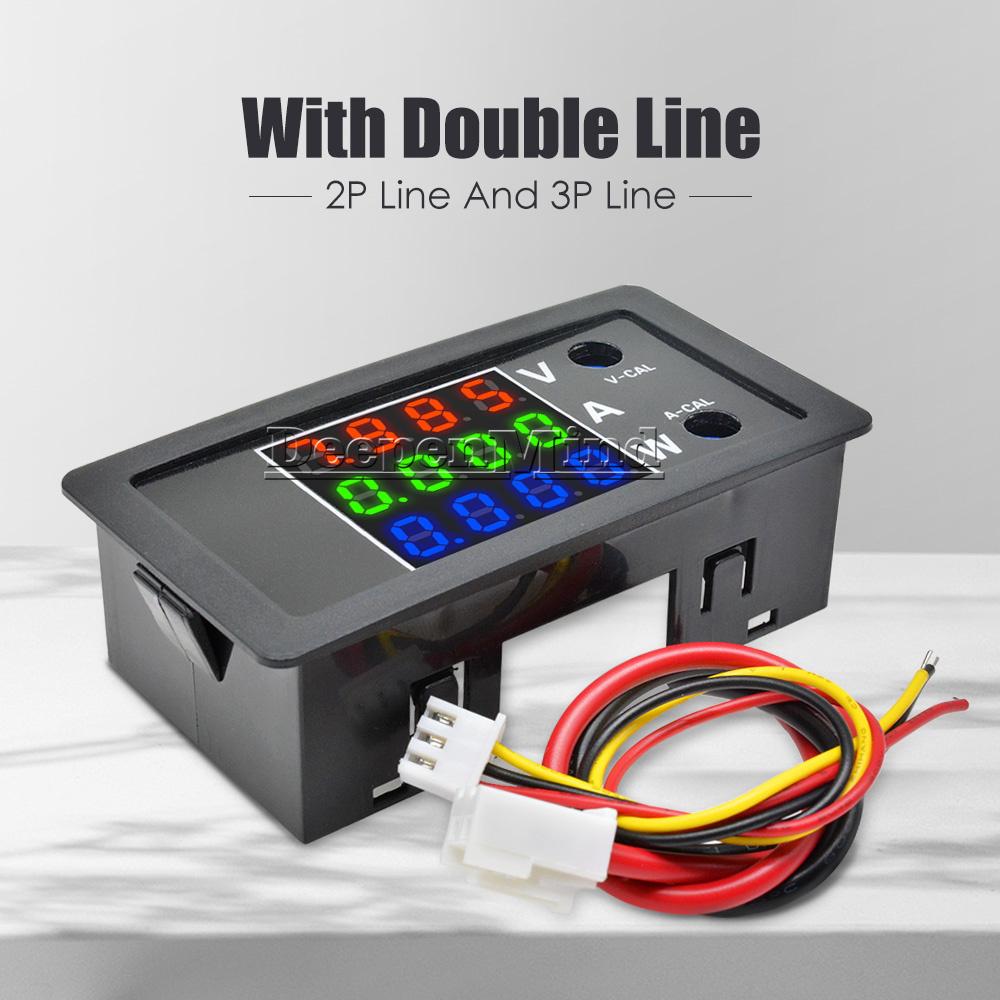 DC 100V 10A LED Digital Display Volt Amp Meter Voltage Voltmeter Ammeter New UK