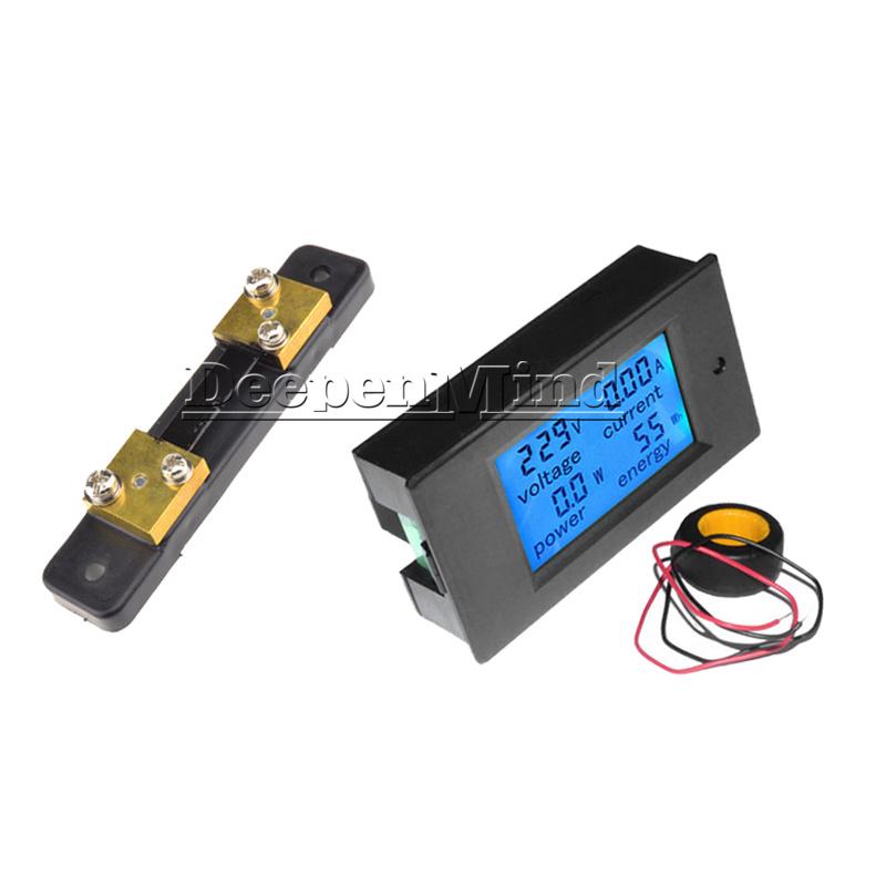 Digital-50A-LCD-Volt-Watt-Current-Power-Meter-Ammeter-Voltmeter-Meter-Shunt thumbnail 18