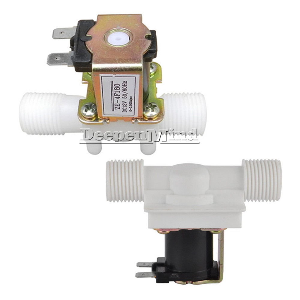 Brass Electric Solenoid Valve Normally Closed Water Inlet Switch,DC 12V DN15 G1//2 1//2 Electric Solenoid Valve,90 Degrees Right Angle,for Automatic Cleaning