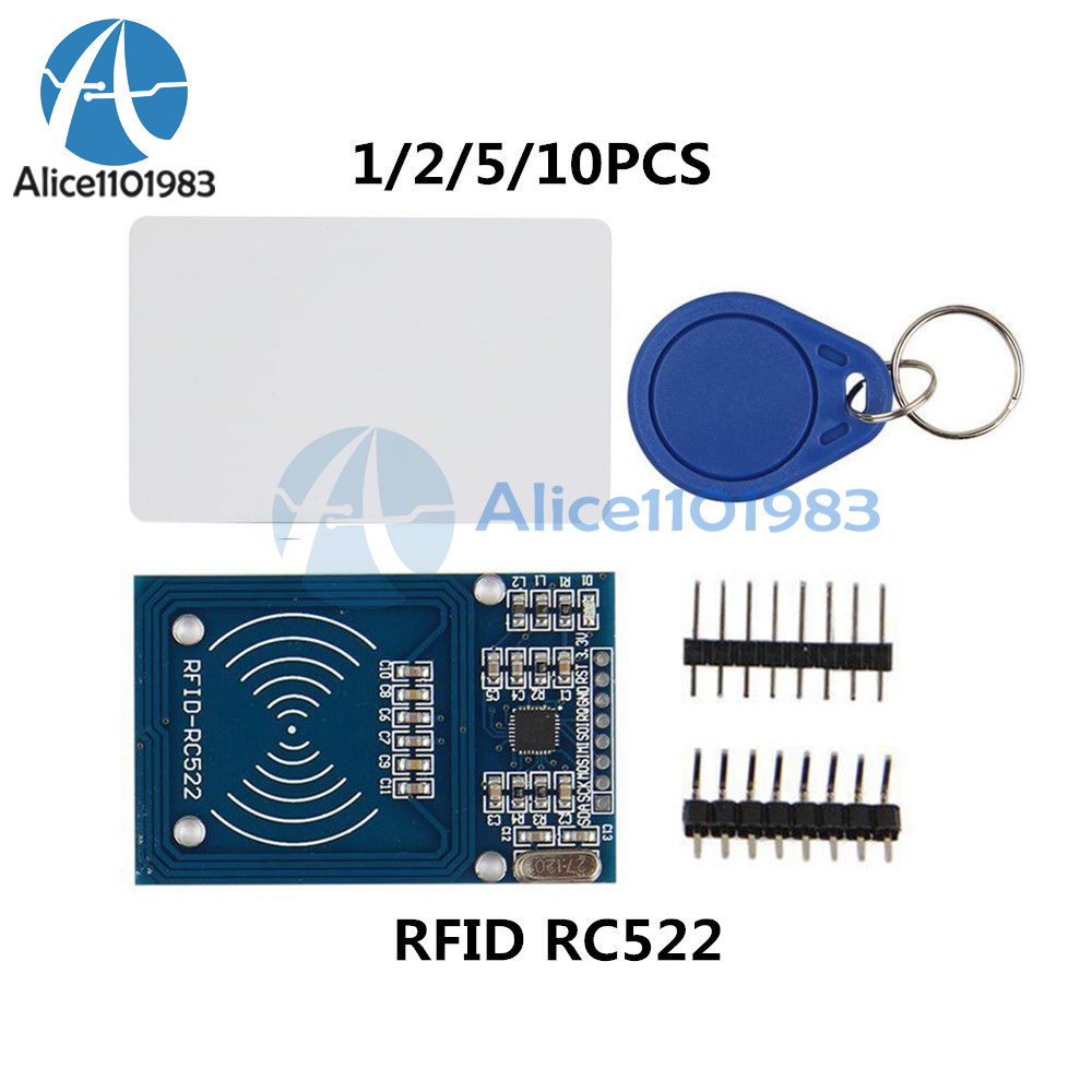 Details about 1/2/5/10PCS RFID RC522 Reader IC Card Module Tags Read and  Write SPI Interface
