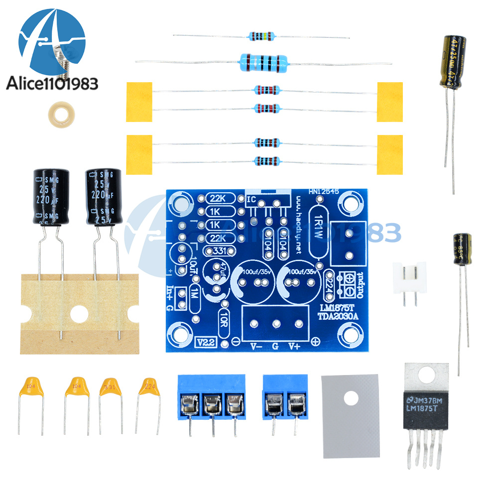 20W LM1875T Mono Channel Stereo Audio HIFI Amplifier Board Module DIY Kit O4T7