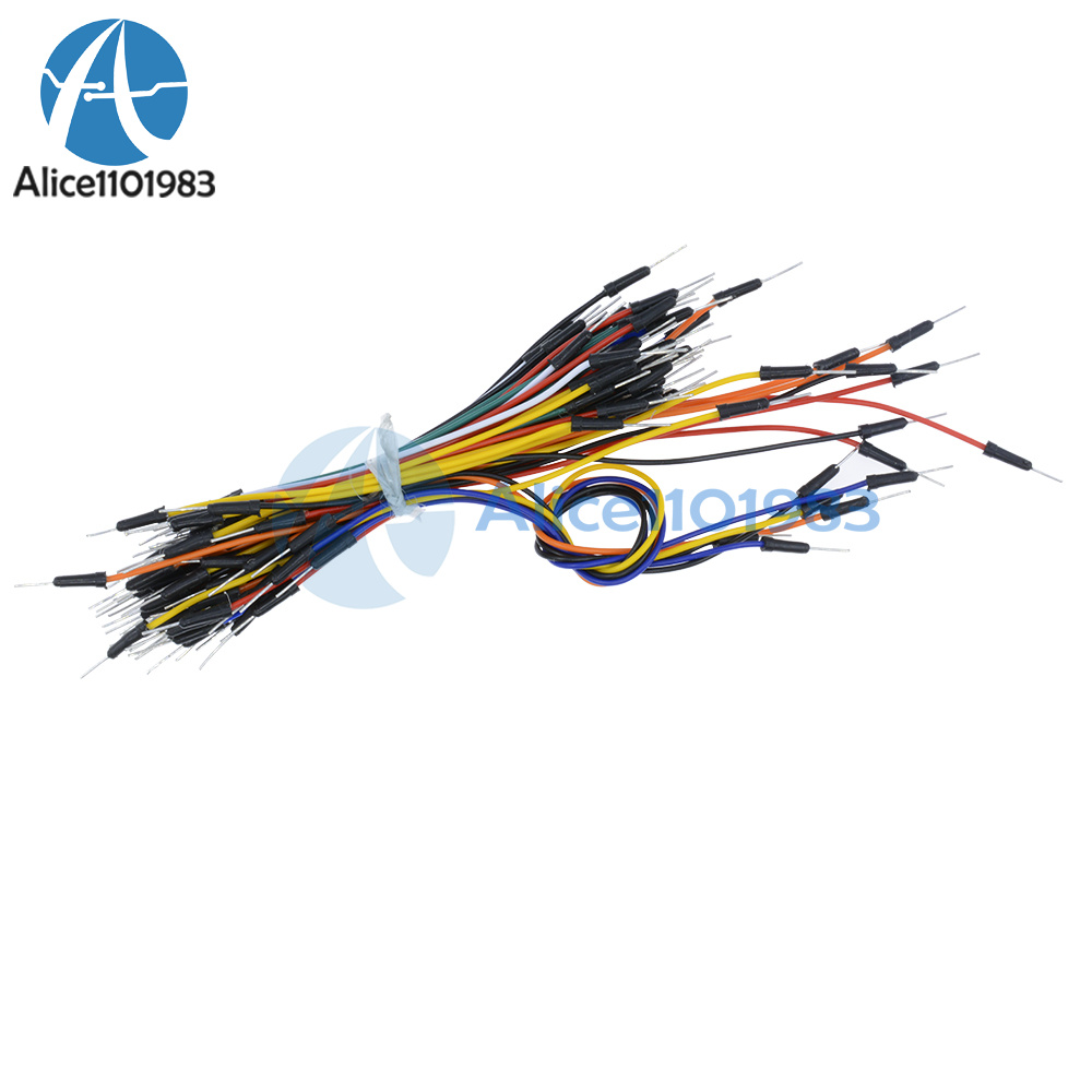 1//2//5//10PCS 65pcs Male to Male Flexible Solderless Breadboard Jumper Cable Wires