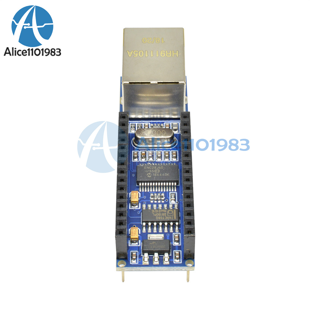 2PCS ENC28J60 Ethernet Shield for Arduino Nano 3.0 RJ45 Webserver Module S8