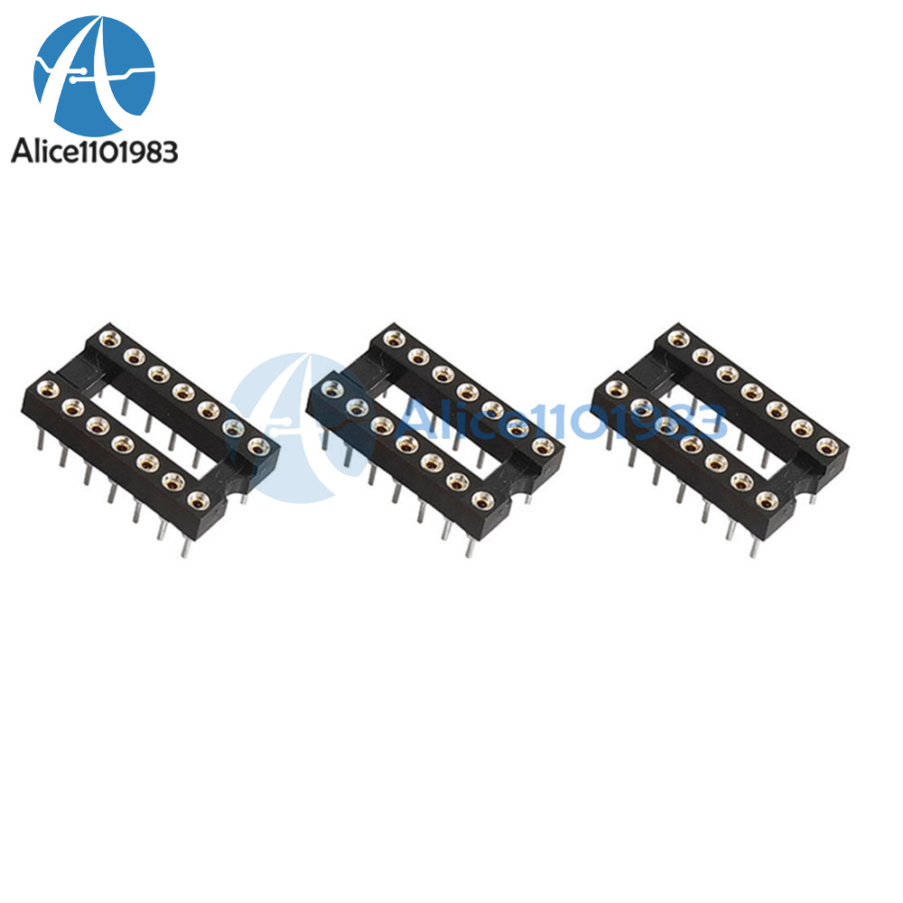 20pcs 8Pin DIP SIP Round IC Sockets Adaptor Solder Type Plaqué Or Usiné