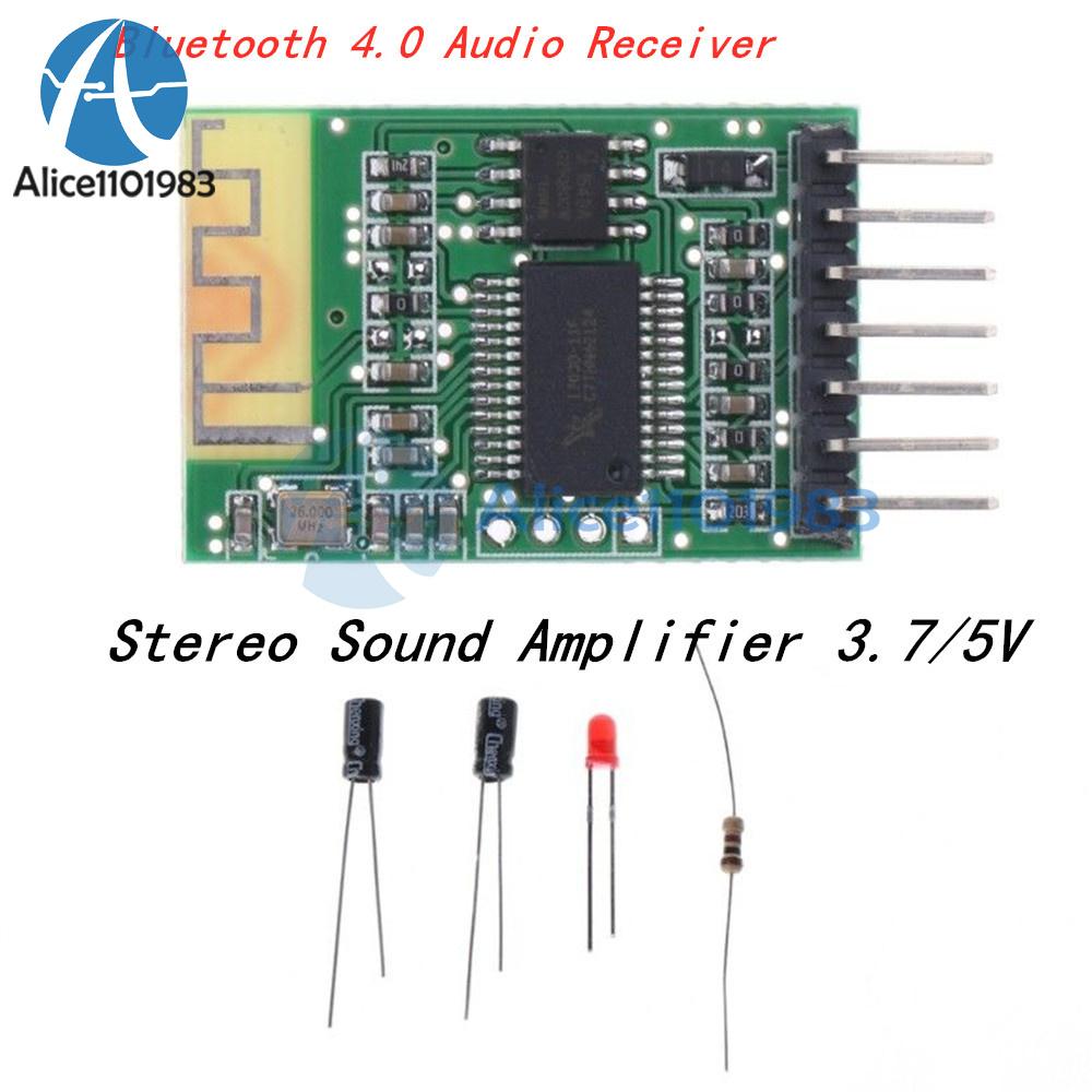 DC3.7V 5V Bluetooth 4.0 Audio Receiver Board DIY Wireless Stereo Sound Amplifier
