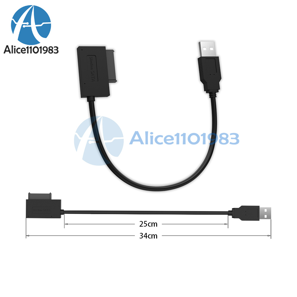 Sata Slimline To Usb 20 Adapter Cable For Laptop Cd Dvd Rom Drive 7 Ata Connector 6 Pin Power This 13pin Optical Is The Latest Third Generation Product Smaller Lighter And Firmer